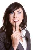 Mulher de negócios de pensamento Foto de Stock