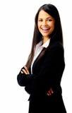 Mulher de negócios de riso fotografia de stock royalty free