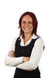Mulher de negócios de sorriso imagens de stock royalty free