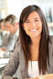 Mulher de negócios de sorriso Imagem de Stock Royalty Free