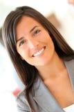 Mulher de negócios de sorriso imagens de stock