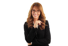 Mulher de negócios de sorriso fotos de stock royalty free