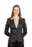 Mulher de negócios de sorriso bonita Imagem de Stock Royalty Free