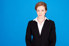 Mulher de negócios de sorriso do Redhead Imagem de Stock Royalty Free
