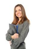 Mulher de negócios de sorriso feliz nova Imagem de Stock
