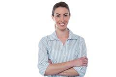 Mulher de negócios de sorriso segura imagem de stock royalty free