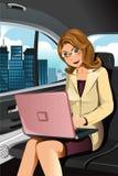 Mulher de negócios de trabalho Imagem de Stock