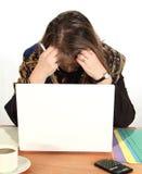 Mulher de negócios Dejected imagem de stock