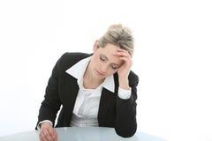 Mulher de negócios desalentado Dejected imagem de stock