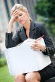 Mulher de negócios desempregada fotografia de stock royalty free