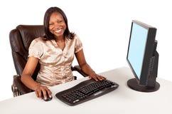Mulher de negócios do americano africano Foto de Stock Royalty Free