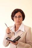 Mulher de negócios do branco da beleza Foto de Stock Royalty Free