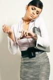Mulher de negócios do brunet de Atractive Fotografia de Stock