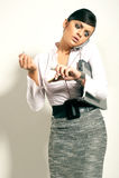 Mulher de negócios do brunet de Atractive Fotos de Stock
