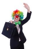 Mulher de negócios do palhaço da mulher Imagem de Stock