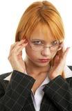 Mulher de negócios do Redhead Imagens de Stock