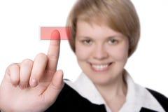 Mulher de negócios do sorriso Imagens de Stock