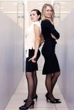 Mulher de negócios dois atrativa no escritório Fotos de Stock Royalty Free