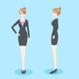 Mulher de negócios dos desenhos animados da beleza Fotografia de Stock Royalty Free