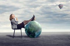 Mulher de negócios Dreaming foto de stock royalty free
