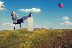 Mulher de negócios Dreaming Imagens de Stock Royalty Free
