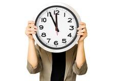 Mulher de negócios e conceito do tempo Fotografia de Stock