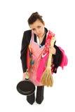 Mulher de negócios e dona de casa cansadas Imagem de Stock Royalty Free