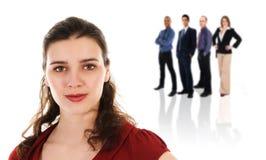 Mulher de negócios e equipe Fotografia de Stock