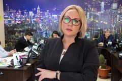 Mulher de negócios e pessoal dos empregados Imagem de Stock Royalty Free