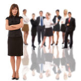 Mulher de negócios e sua equipe Foto de Stock Royalty Free