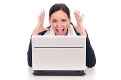 Mulher de negócios em choque fotos de stock royalty free