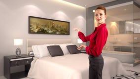 Mulher de negócios em um hotel Imagem de Stock