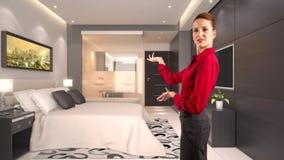 Mulher de negócios em um hotel Imagens de Stock