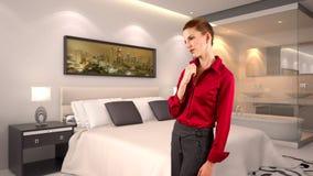 Mulher de negócios em um hotel Imagens de Stock Royalty Free