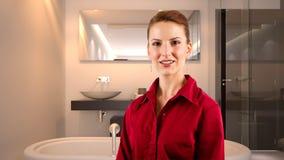 Mulher de negócios em um hotel Fotografia de Stock Royalty Free