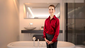 Mulher de negócios em um hotel Imagem de Stock Royalty Free
