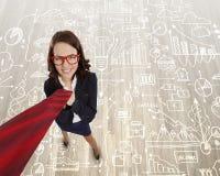 Mulher de negócios engraçada Imagens de Stock