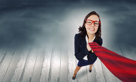 Mulher de negócios engraçada Imagens de Stock Royalty Free