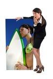 Mulher de negócios espantada Imagens de Stock Royalty Free
