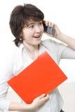Mulher de negócios espantada Imagem de Stock