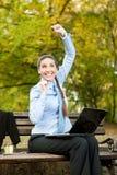 Mulher de negócios Excited, conceito - grande notícia Imagens de Stock