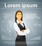 Mulher de negócios Executive Finance Infographic Foto de Stock