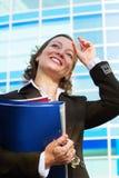 Mulher de negócios feliz. Imagens de Stock Royalty Free