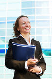 Mulher de negócios feliz. Fotografia de Stock Royalty Free