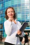 Mulher de negócios feliz. Imagens de Stock