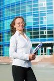 Mulher de negócios feliz. Fotos de Stock