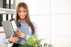 Mulher de negócios feliz Imagens de Stock