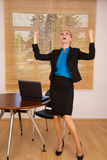 Mulher de negócios feliz fotografia de stock