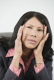 Mulher de negócios forçada Fotografia de Stock Royalty Free