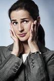 Mulher de negócios forçada Imagem de Stock Royalty Free
